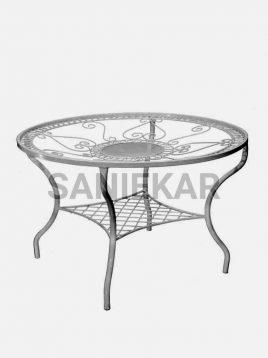 میز فضای باز فلزی صنیع کار مدل شعاعی