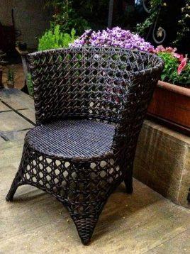 صندلی فضای باز حصیری صنیع کار مدل هلن