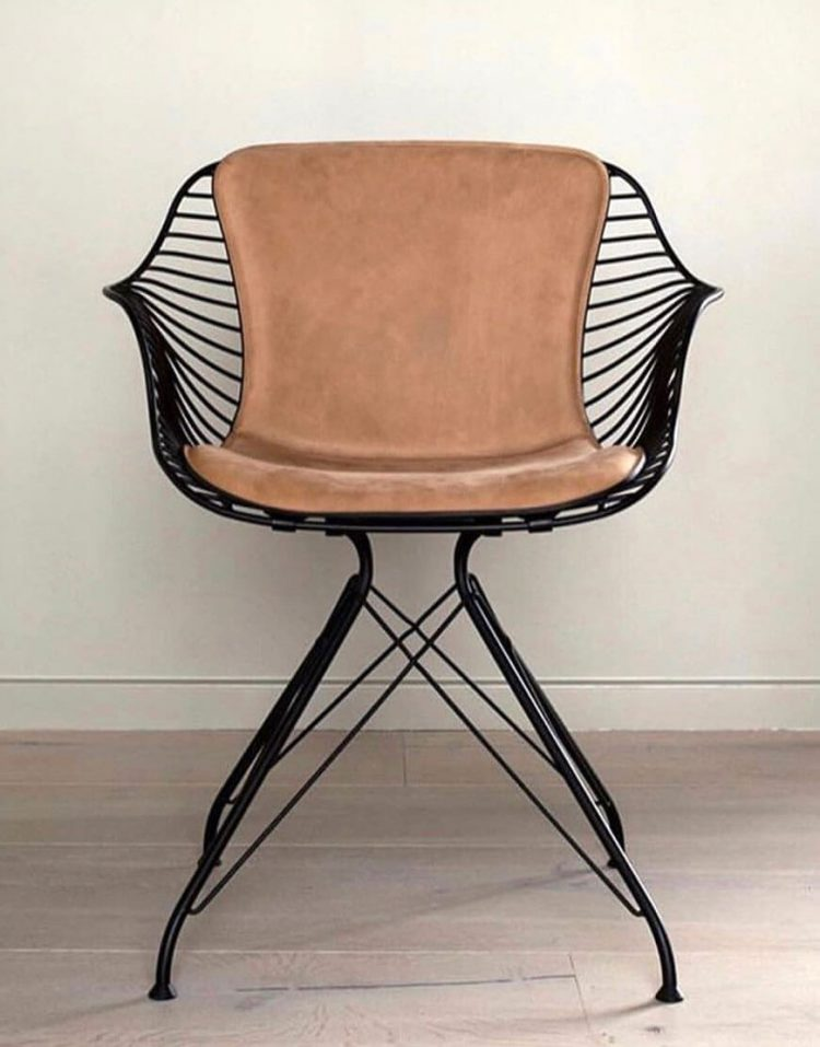 صندلی فلزی استیل هامون مدل فلورانس