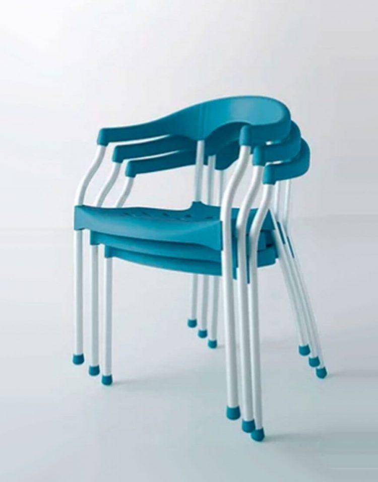 صندلی پلاستیکی استیل هامون مدل سرنا