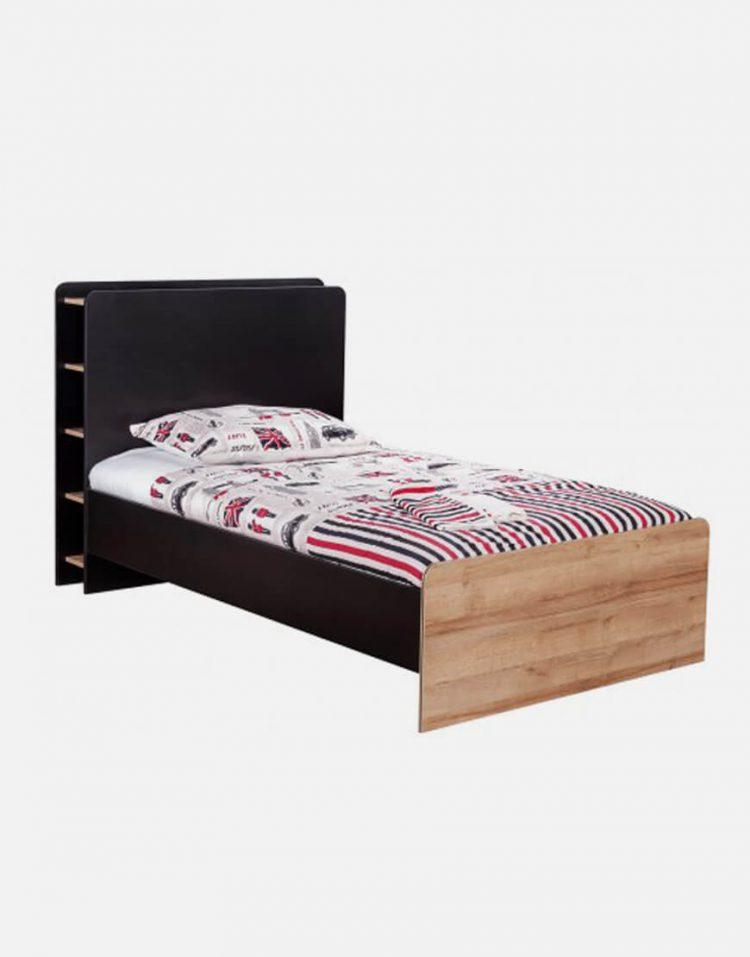تخت چوبی مشکی تک نفره آپادانا مدل دالاس