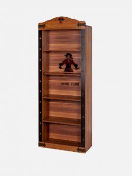 کتابخانه چوبی قهوه ای آپادانا طرح کشتی