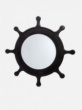 آینه چوبی قهوه ای آپادانا طرح سکان کشتی