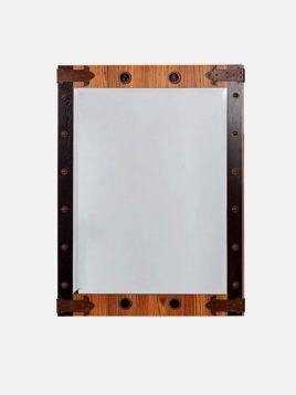 آینه چوبی قهوه ای آپادانا طرح کشتی