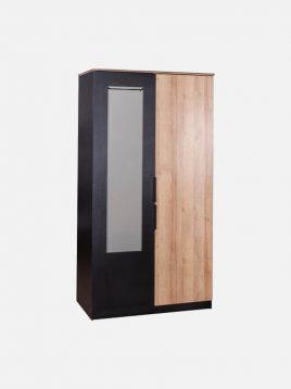 کمد دو درب چوبی مشکی زاگرس آپادانا مدل دالاس
