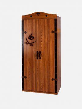 کمد دو درب چوبی قهوه ای آپادانا طرح کشتی