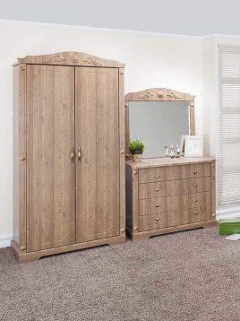 کمد دو درب چوبی قهوه ای آپادانا مدل کینگ