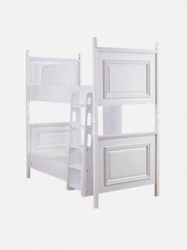 تخت دو طبقه چوبی سفید آپادانا مدل ریتا