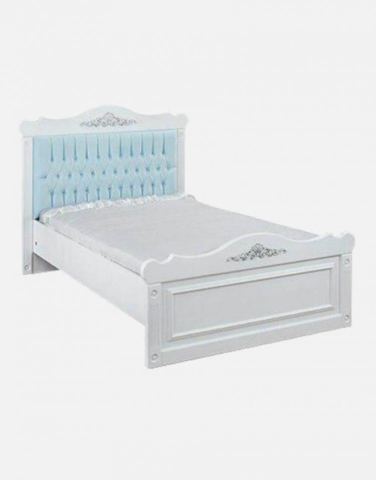 تخت تک نفره چوبی سفید آپادانا مدل کویین