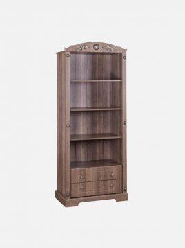 Apadana wooden brown Library model king 1 268x358 - کتابخانه چوبی قهوه ای آپادانا مدل کینگ