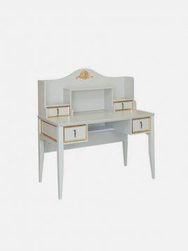 میز تحریر چوبی طوسی طلایی آپادانا مدل ویکتوریا