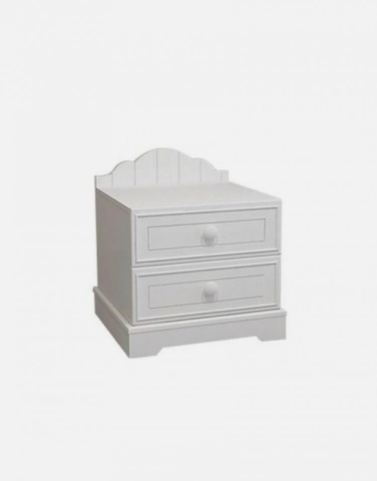 پاتختی چوبی سفید آپادانا مدل پالی