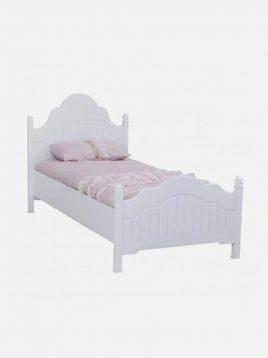 تخت چوبی سفید تک نفره آپادانا مدل پالی