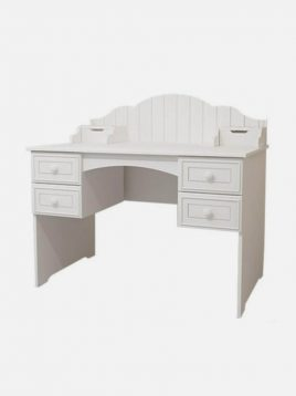 میز تحریر چوبی سفید آپادانا مدل پالی