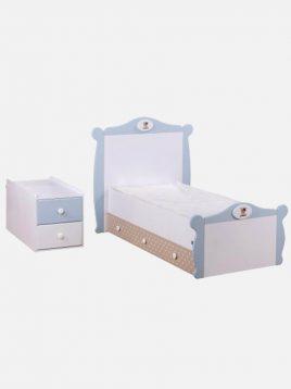 تخت کودک دو منظوره دو طرفه آپادانا مدل تدی