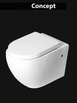 توالت فرنگی وال هنگ چینی کرد مدل کانسپت