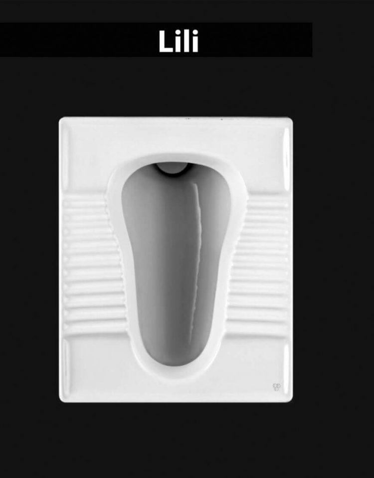 توالت ایرانی چینی کرد مدل لی لی
