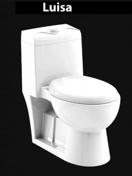 توالت فرنگی چینی کرد مدل لوییزا