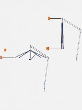 سایبان چتری گیربکس دار تکنو ویلا مدل KCP11