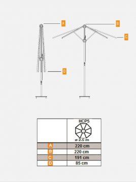 چتر سایبان حیاط تکنو ویلا مدل HCP5