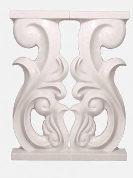 نرده سنگی تراس یاقوت مدل رویال