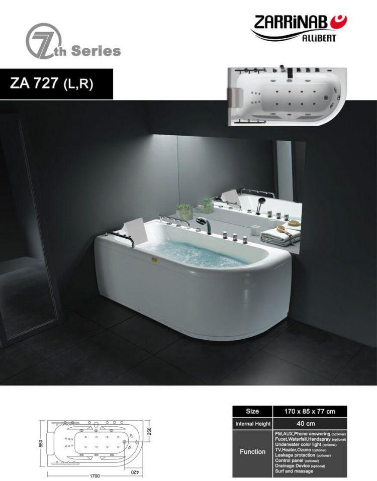 وان و جکوزی زرین آب مدل ZA727