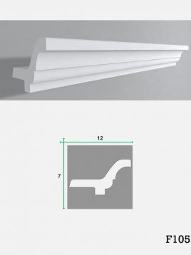 ابزار گچی لبه نور مخفی کناف فرسان مدلF105