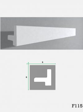 ابزار گچی لبه نور مخفی کناف فرسان مدلF115