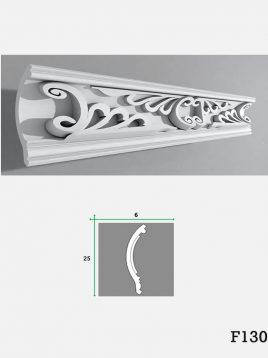 farsan cornice moulding f130model1 268x358 - ابزار دکوراتیو گچی فرسان مدل F130