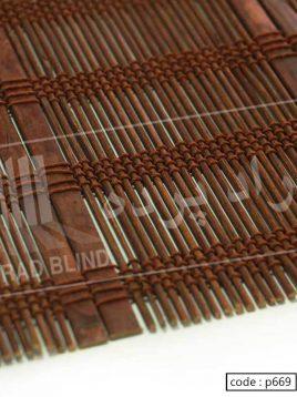 حصیر چوبی بامبو راد آلبوم قرمز کد ۶۶۹