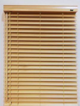 radparde Faux Wood Blinds 1 268x358 - پرده کرکره چوبی پنجره راد