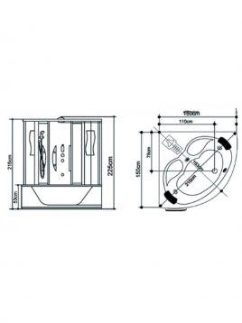 سونا بخار زرین آب مدل مونترال