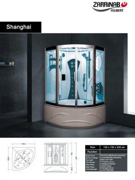 سونا بخار زرین آب مدل شانگهای