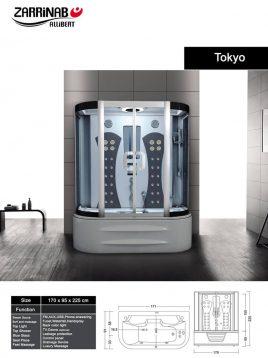 سونا بخار زرین آب مدل توکیو
