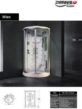 سونا بخار زرین آب مدل وین