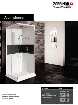 اتاقک دوش زرین آب مدل آلوم شاور