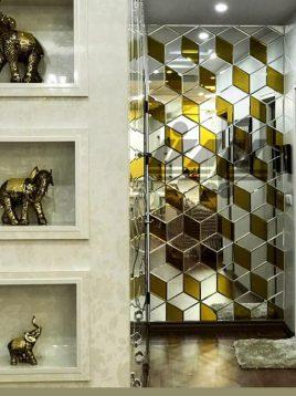آینه تراشدار طرح سه بعدی ایران گلسکو