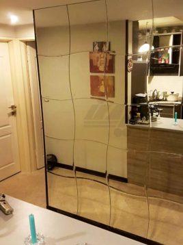iranglassco Arch tile puzzle mirror 1 268x358 - آینه تراشدار طرح قوسی ایران گلسکو