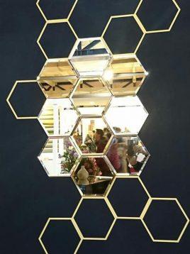آینه تراشدار طرح زنبوری ایران گلسکو