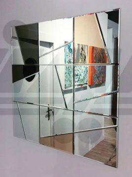 آینه تراشدار طرح مربع شکسته ایران گلسکو