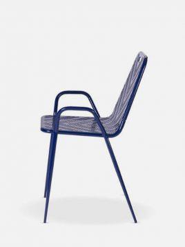صندلی فلزی نهالسان مدل نسیم پانچ طرح دار