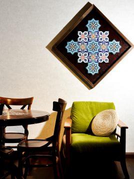 تابلو سنتی هندسی طرح کاشی