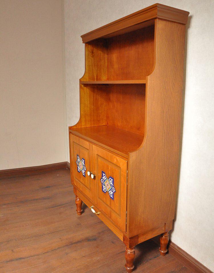 کتابخانه ایستاده چوبی هندسی مدل دو درب