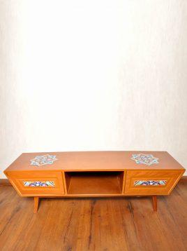 میز تلویزیون چوبی هندسی