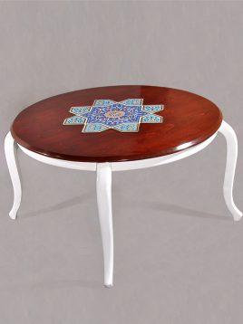 میز جلو مبلی چوبی هندسی مدل گرد