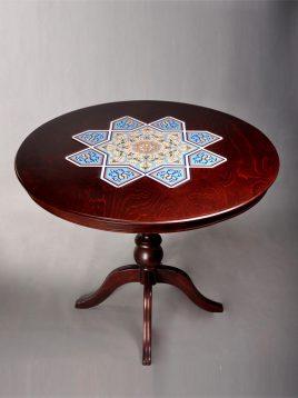 ست میز و صندلی گرد چهار نفره هندسی مدل لهستانی