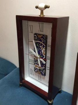 ساعت رومیزی چوبی هندسی