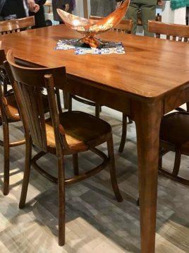 ست میز و صندلی ناهارخوری شش نفره چوبی مدل دیپلمات
