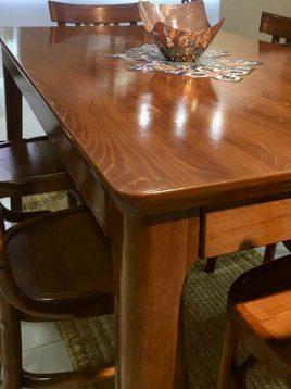میز ناهارخوری شش نفره چوبی هندسی مدل دیپلمات