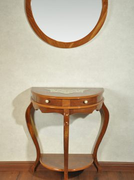 آینه کنسول سه پایه چوبی هندسی مدل آترین